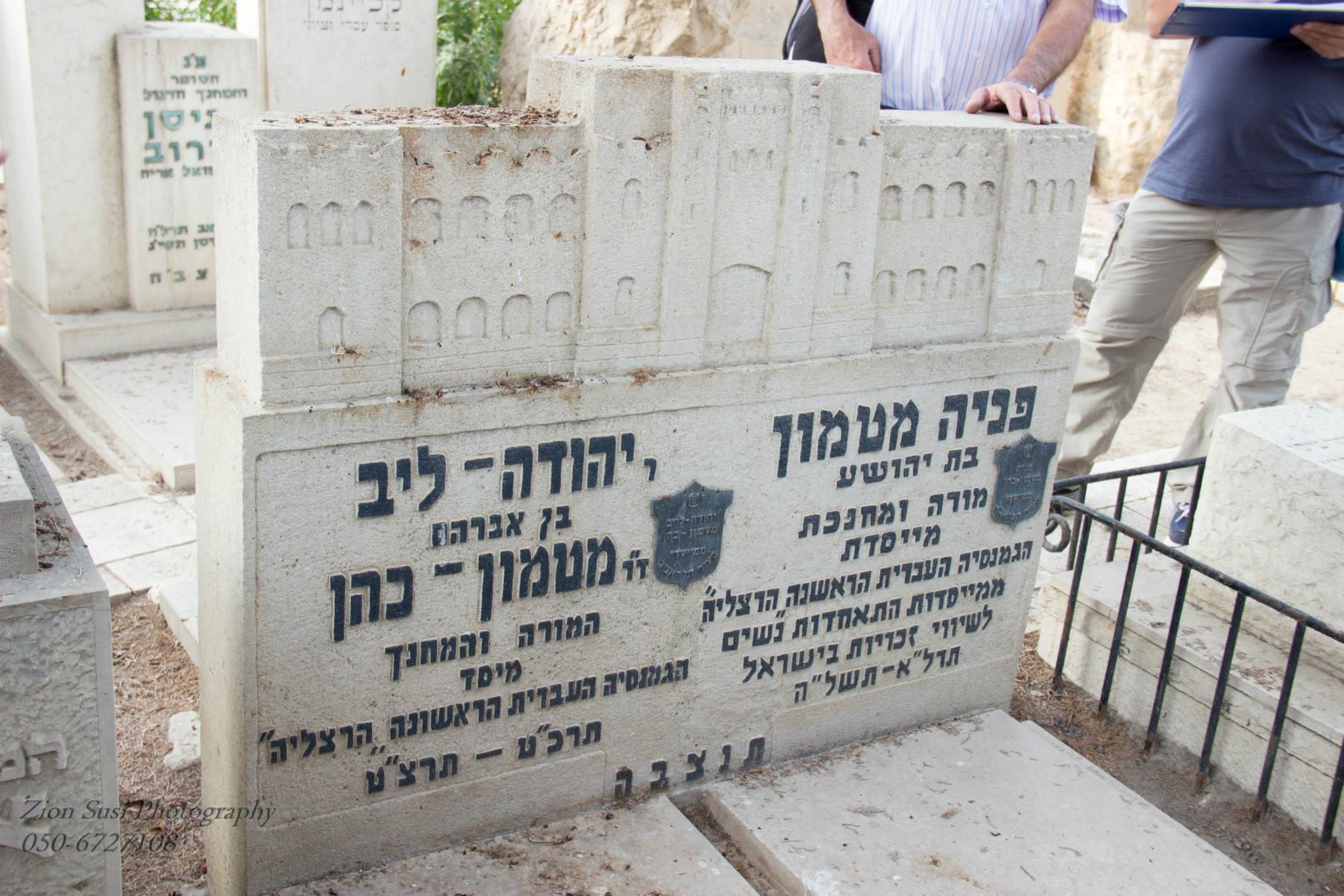 קבר יהודה לייב ואשתו