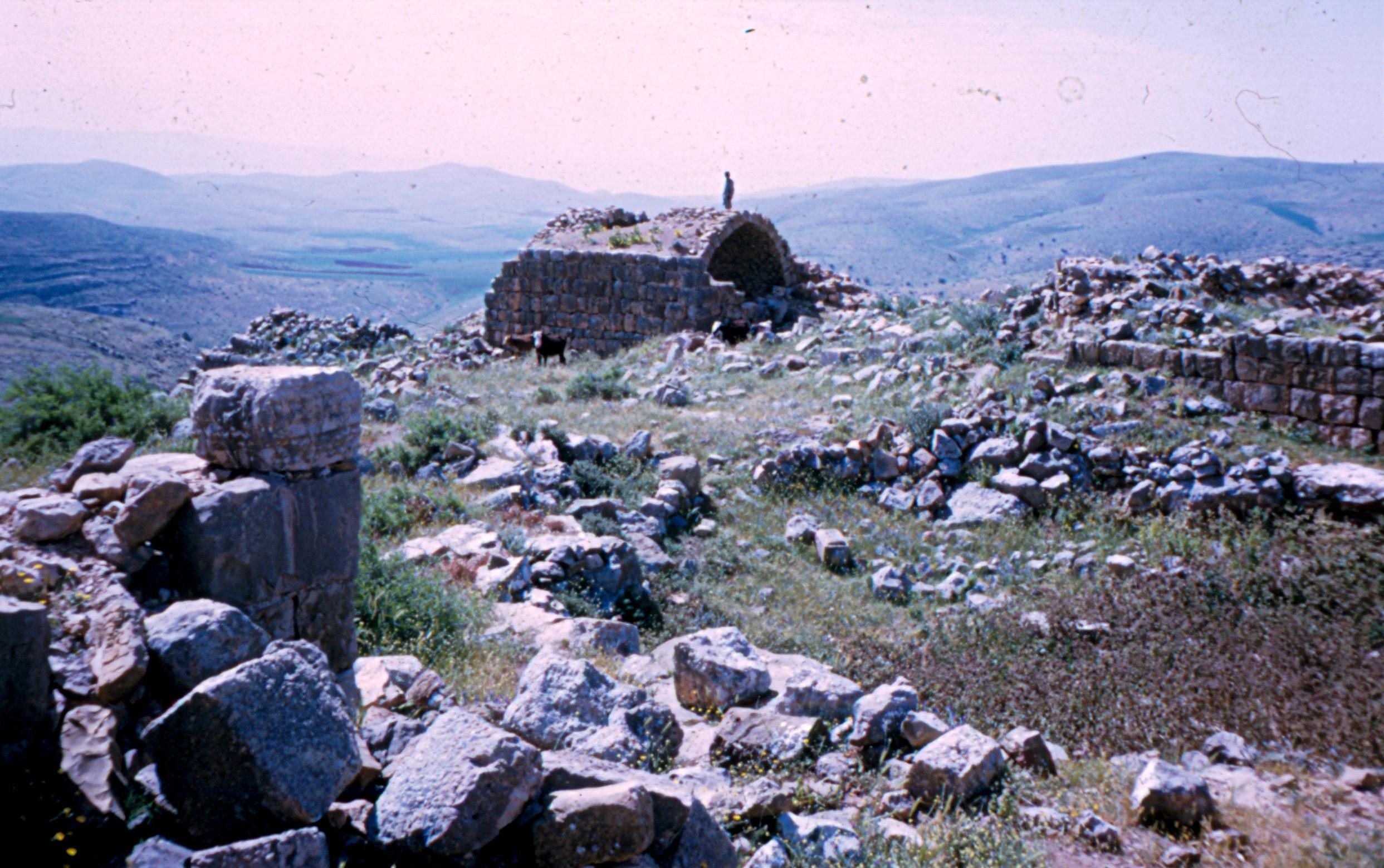 מבט על התל בורג' אל-מלח המצודה במרכז