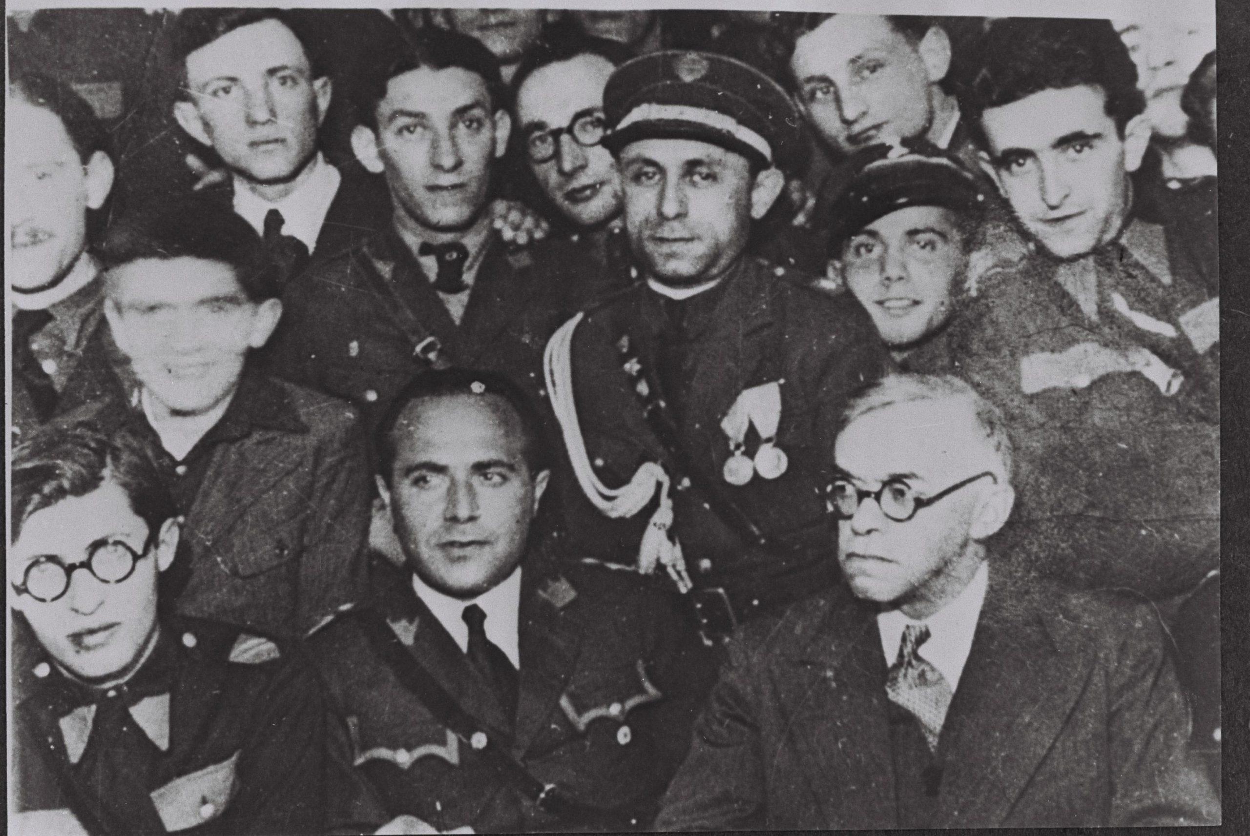 זאב ז'בוטינסקי נפגש עם מנהיגי בית