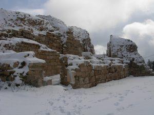 מצודת צפת בשלג(חורף 2008)