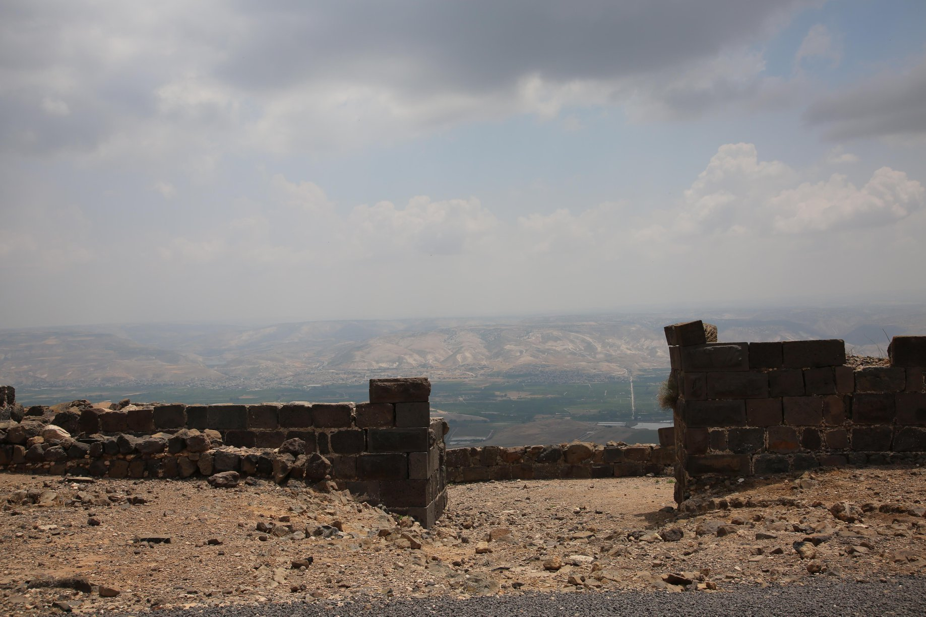 הנוף מהמבצר