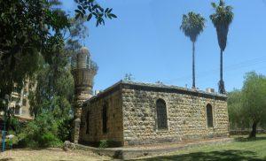 המסגד של אל-ח'אלצה, כיום המוזיאון לתולדות קריית שמונה. שוכן בפארק הזהב