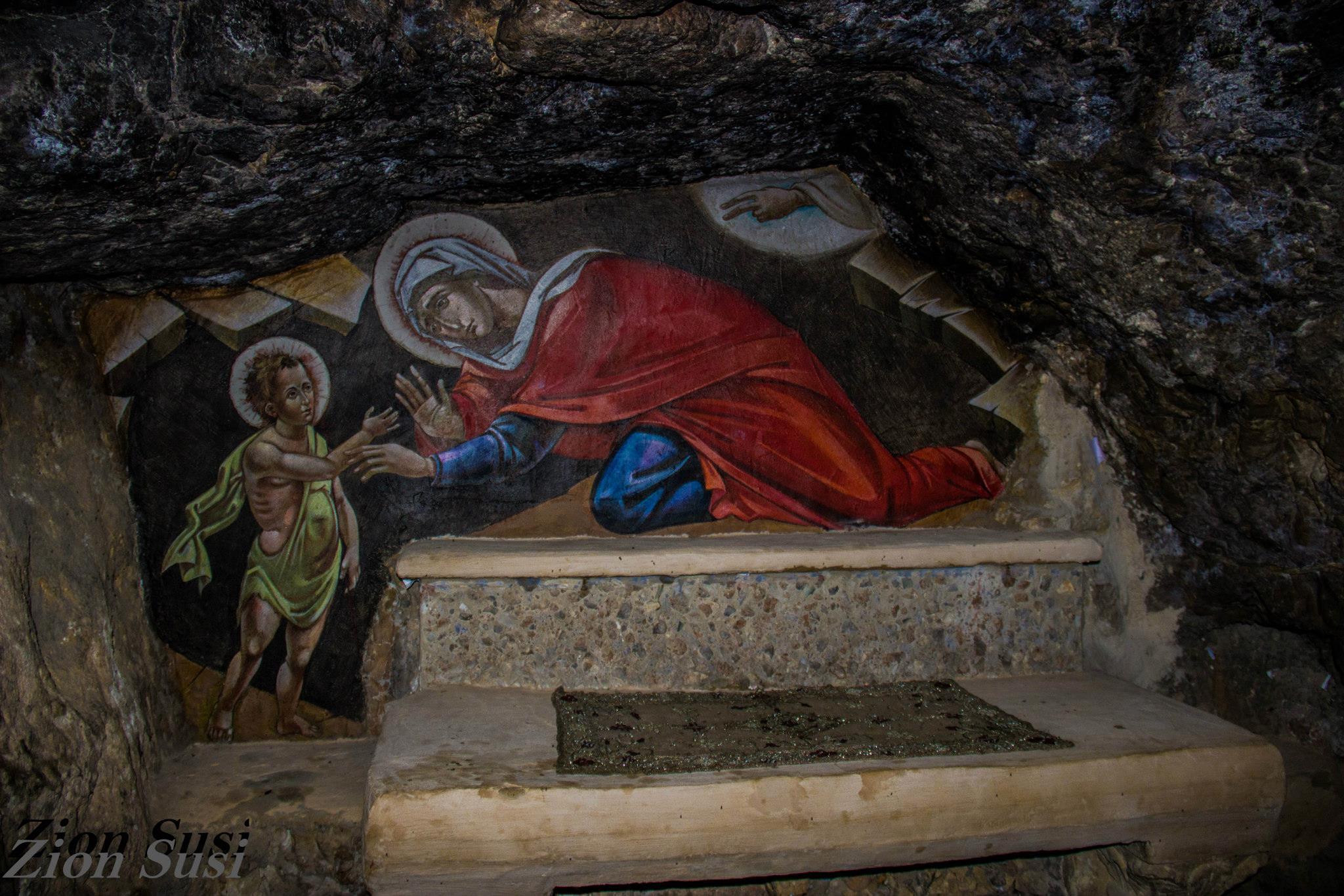 ציור אלישבע ויוחנן המטביל כתינוק.