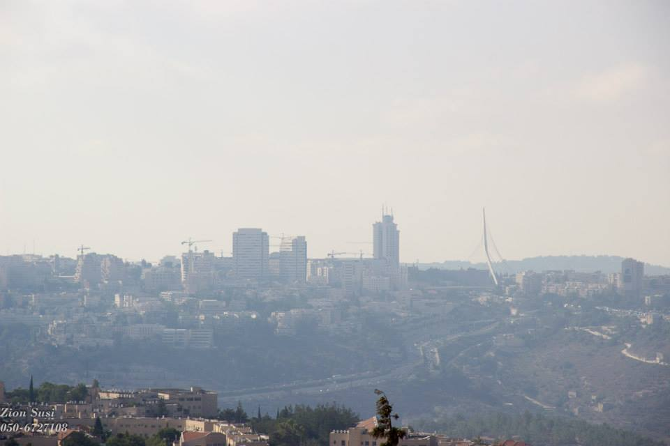 גשר המיתרים בירושלים כפי שנראית מנבי סמואל
