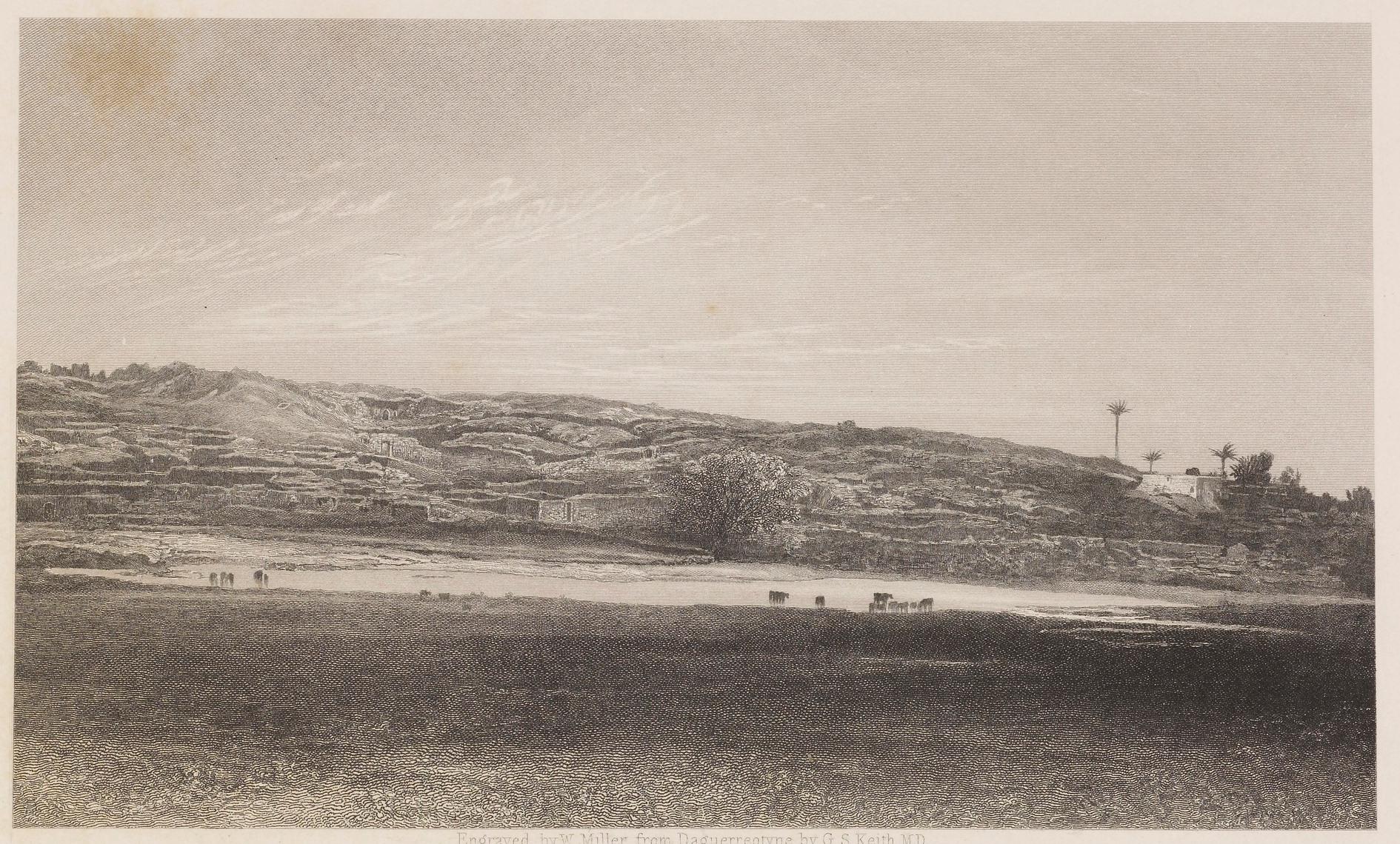 תל אשדוד, תחריט משנת 1844