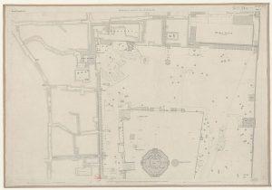 מפת הר הבית כפי שמופיעה בסקר משנת 1865.