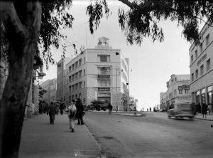 """בניין גנרלי, רחוב יפו פינת רחוב הנסיכה מרי (היום: רחוב שלומציון המלכה) בירושלים    האצ""""ל"""