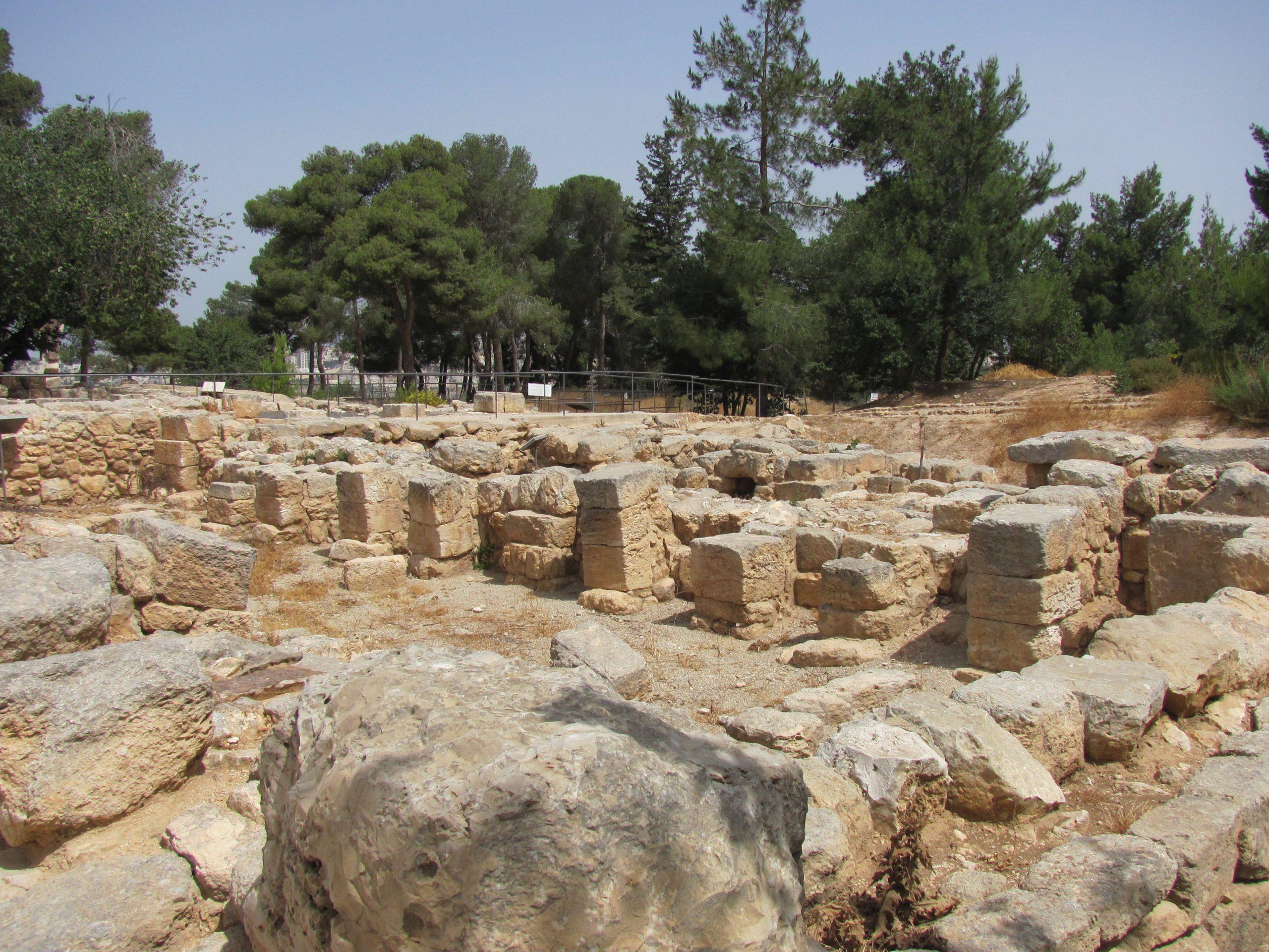רמת רחל - האולם הביזנטי בפארק הארכאולוגי