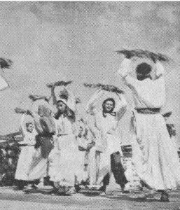 """""""ריקוד המלקטות"""", כנס מחולות העם בדליה, 1944"""