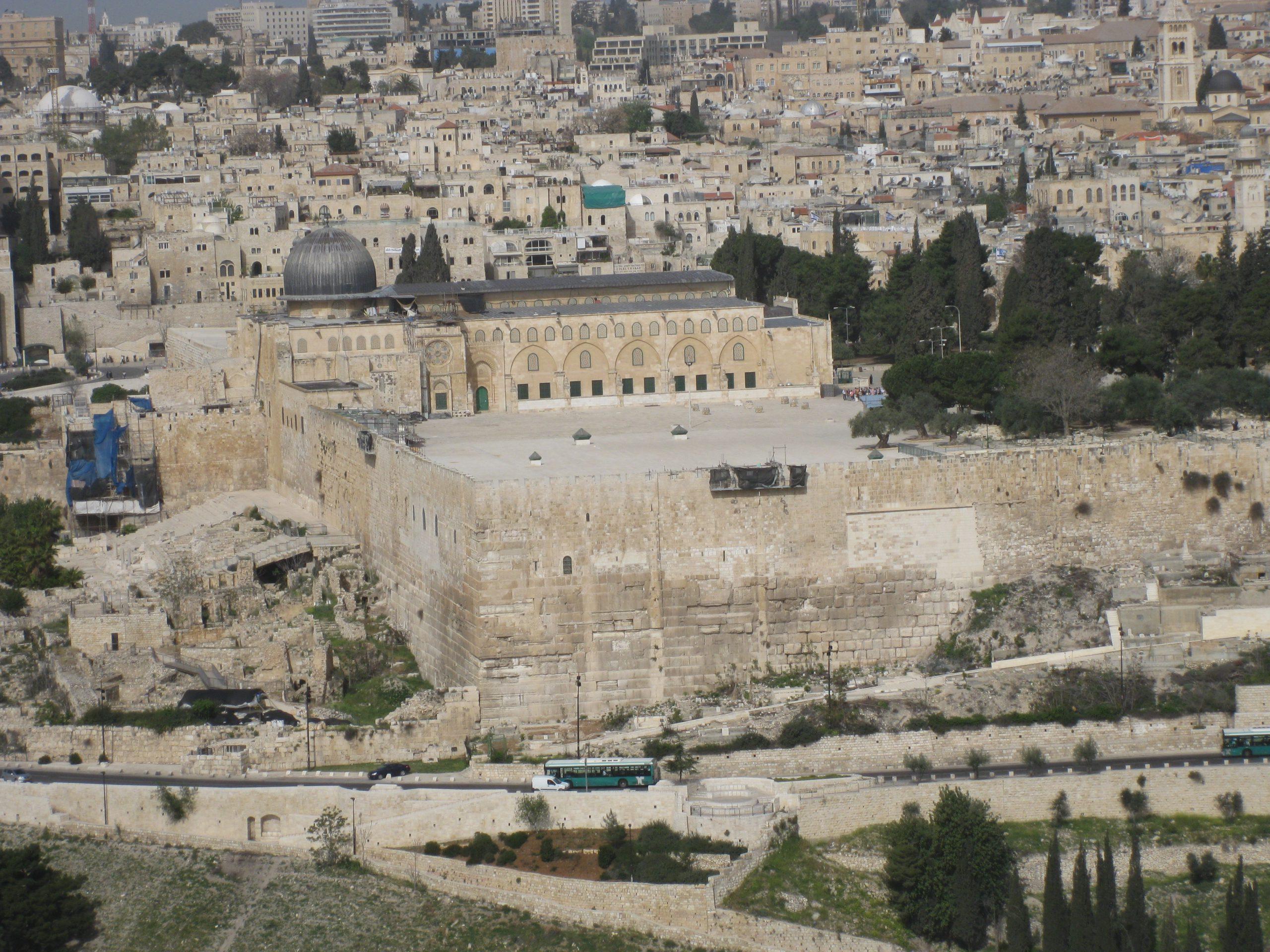 קרן העופל פינת החומה המזרחית והחומה הדרומית של הר הבית