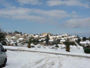 עפרה בשלג